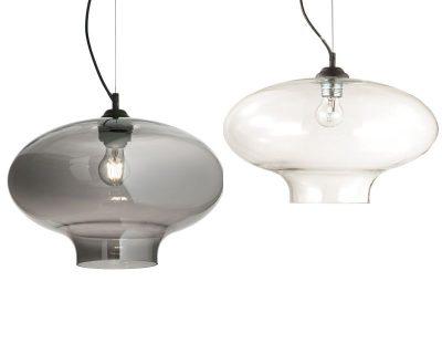 Bistro-Ideal-Lux-Sospensione-in-vetro-fume-o-trasparente
