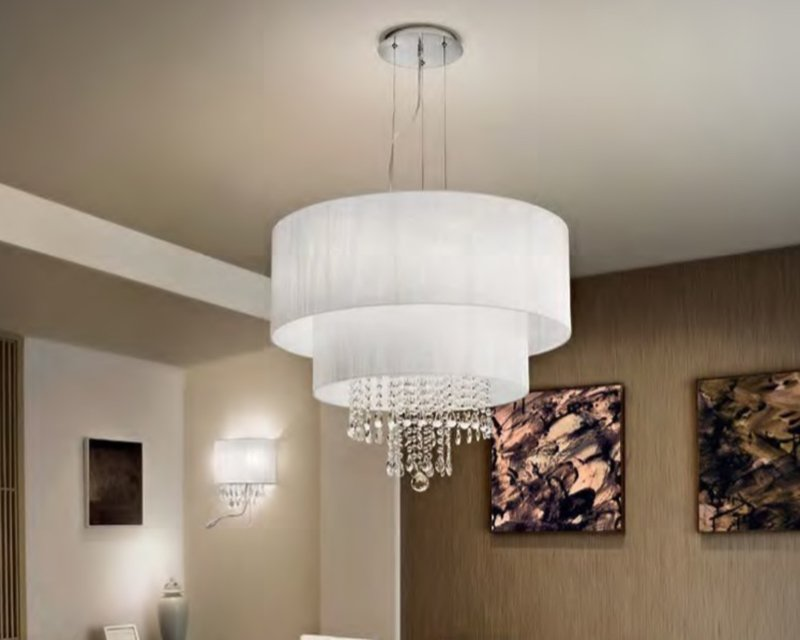 Opera lampadario classico in tessuto ideal lux - Ideal lux lampade da tavolo ...