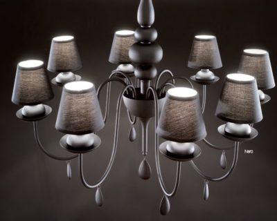 blanche-nero-ideal-lux-lampadario-classico-con-paralumi