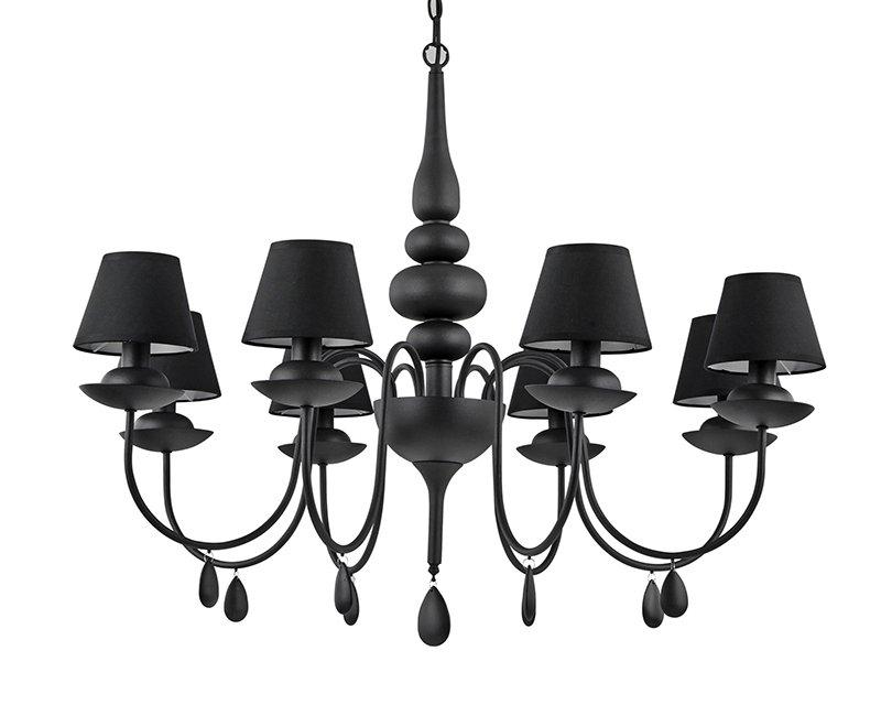 Blanche ideal lux lampadario classico con paralumi for Lampadario classico