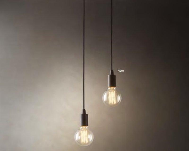 Edison sp sospensione con lampada a bulbo ideal lux