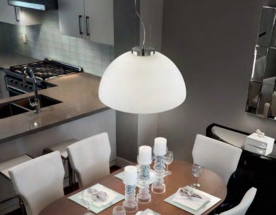 Etna Ideal Lux ! Lampadario moderno bianco da Cucina ...