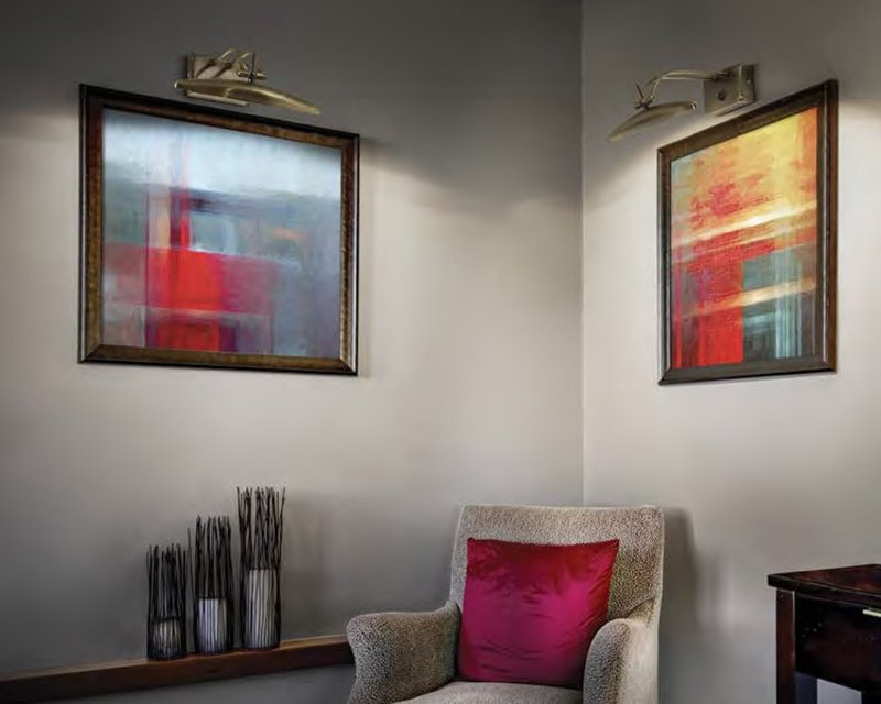 Mirror ideal lux applique in metallo orientabile