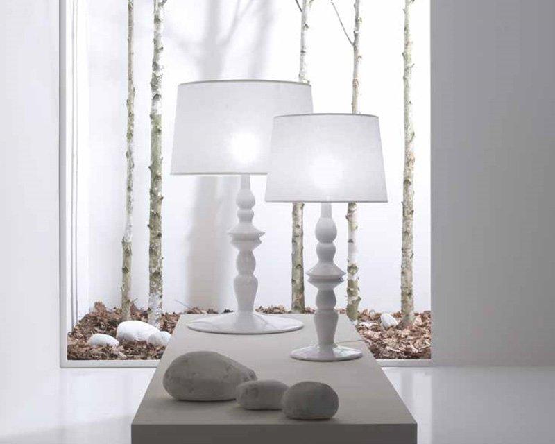 Ali 39 e baba 39 lp karman lampada da tavolo bianca di design - Lampada da tavolo di design ...