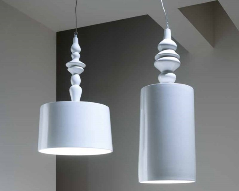 Lampadario Bianco Legno : Lampada sospensione design bianca lampada da terra legno design