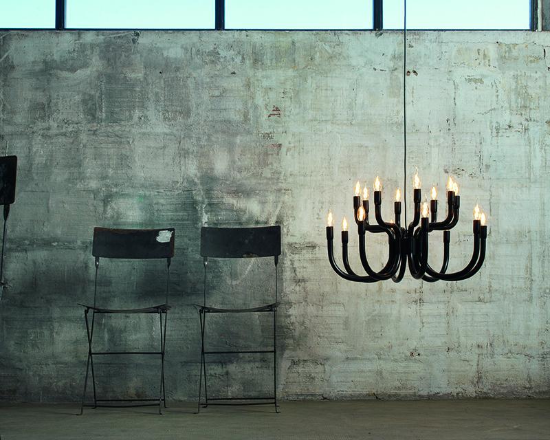 snoob-karman-lampadario-di-design-16-luci-nero-bianco