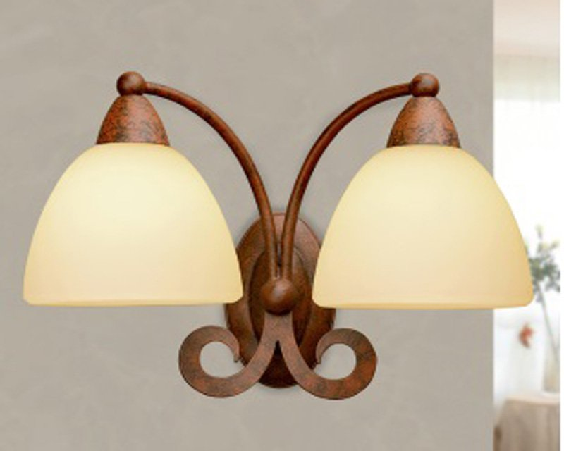 1730 2a lam lampada da parete classica 2 luci lightinspiration.it