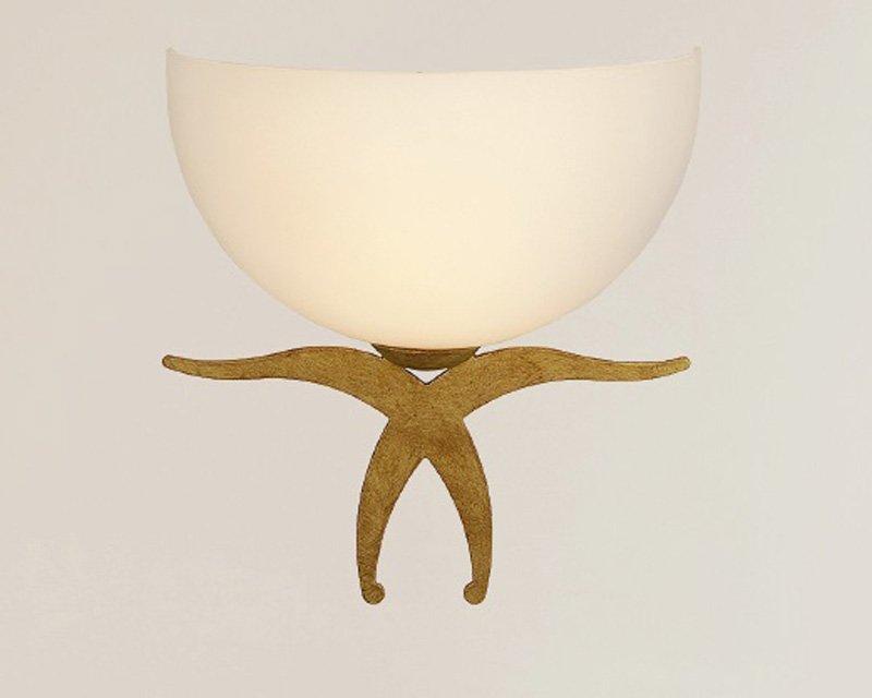 Sontuosa lampada da parete parete parete applique ferro battuto