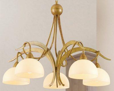 1720-lampadario-classico-5-luci-vetro-ambrato