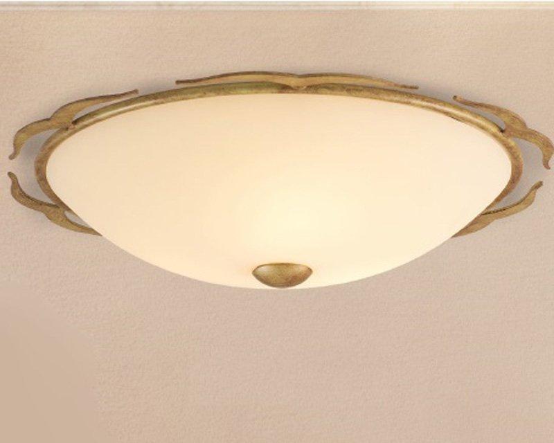 Plafoniere Ottone E Vetro : 1720 pl46 lam lampada a soffitto classica lightinspiration