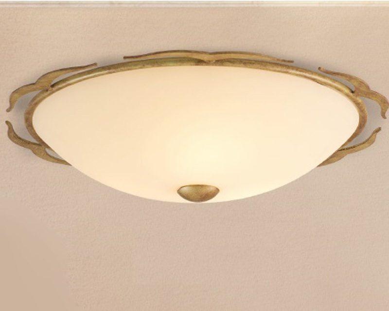 Plafoniera Ottone Vetro : Pl lam plafoniera classica rotonda lightinspiration