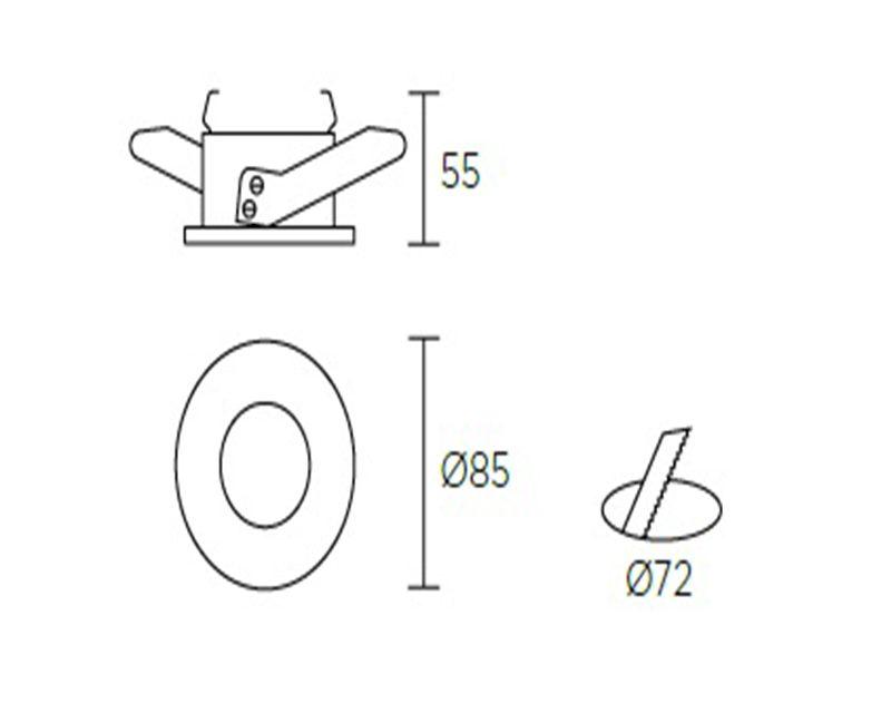 split-faretto-tenuta-stagna-leds-c4-dimensioni