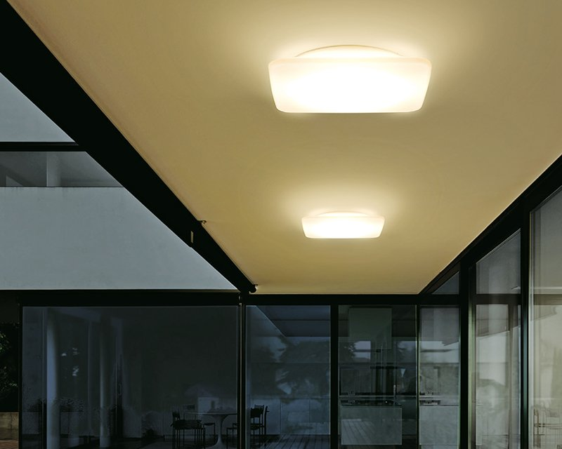 Plafoniera Led Esterno Soffitto : My white quadra linea light plafoniera applique led per interni