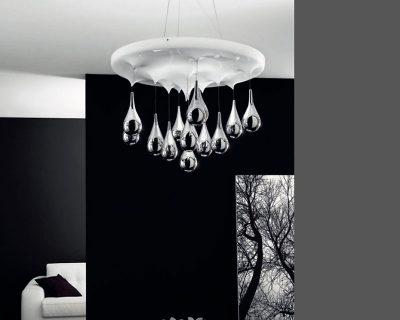 pioggia-lampade italiane-lampadario