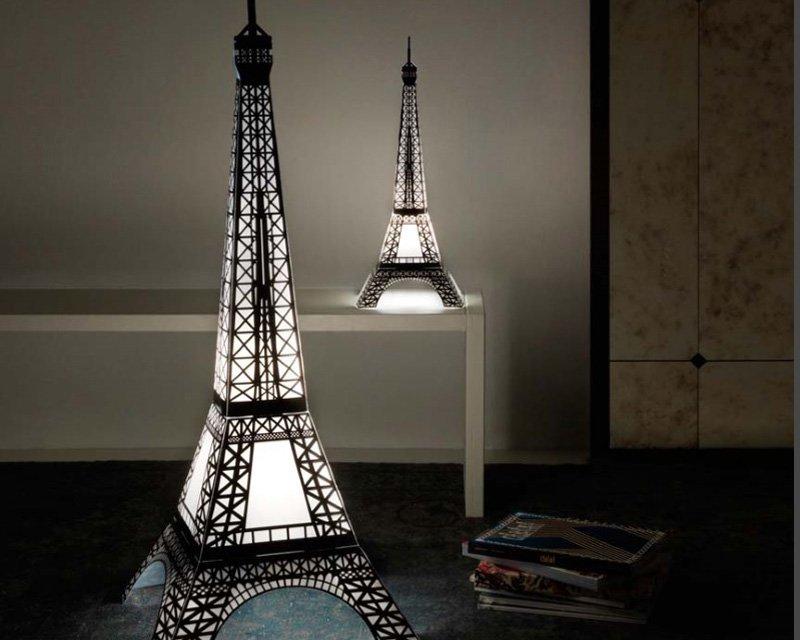 Eiffel towers lampada da terra moderna arredo luminoso linea zero