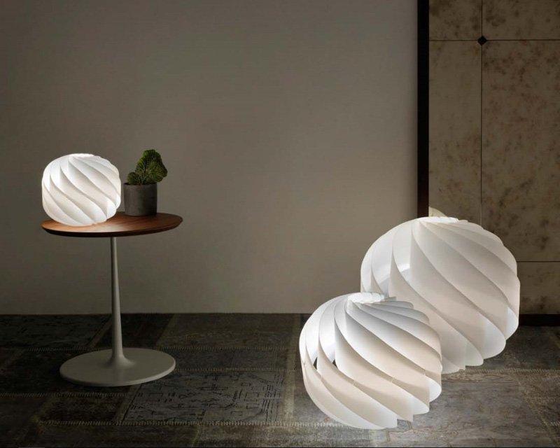 Globe linea zero lampada da tavolo e terra a sfera - Base per lampada da tavolo ...