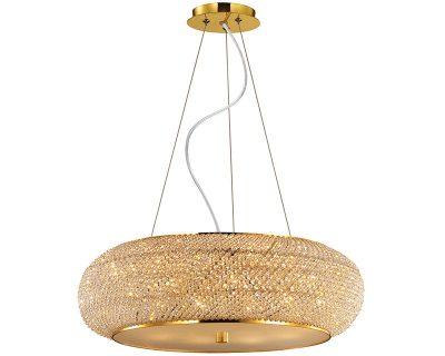Pashà Ideal Lux Lampadario Classico in Cristallo Oro 55cm