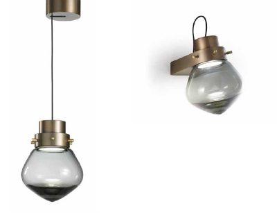 lightheart-sillux-applique-di-design-bronzo-e-nera-con-vetro-trasparente