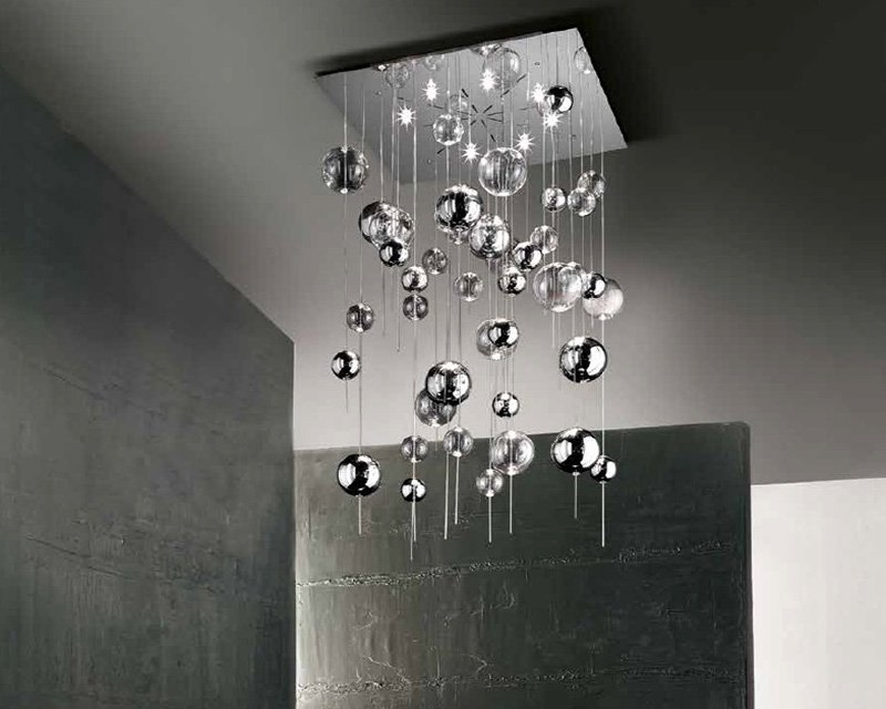 Plafoniere In Vetro Per Lampadari : Niagara h sil lux plafoniera lampadario di design