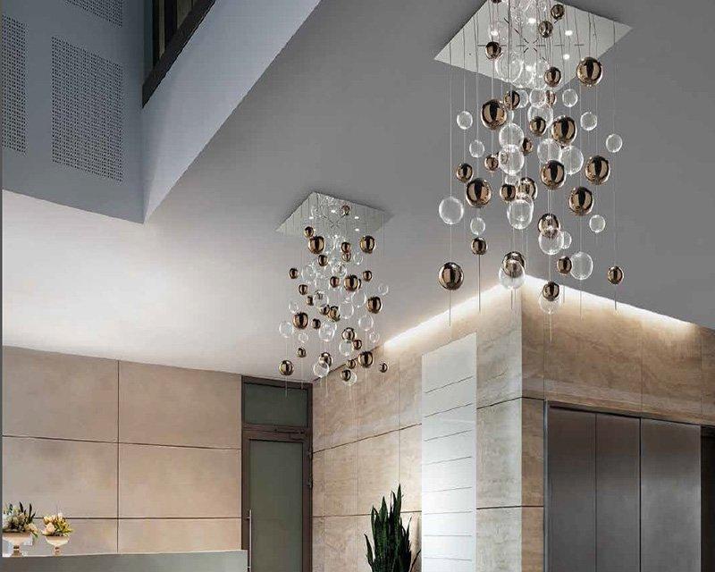 Plafoniere Da Camera Moderne : Niagara h sil lux plafoniera lampadario di design