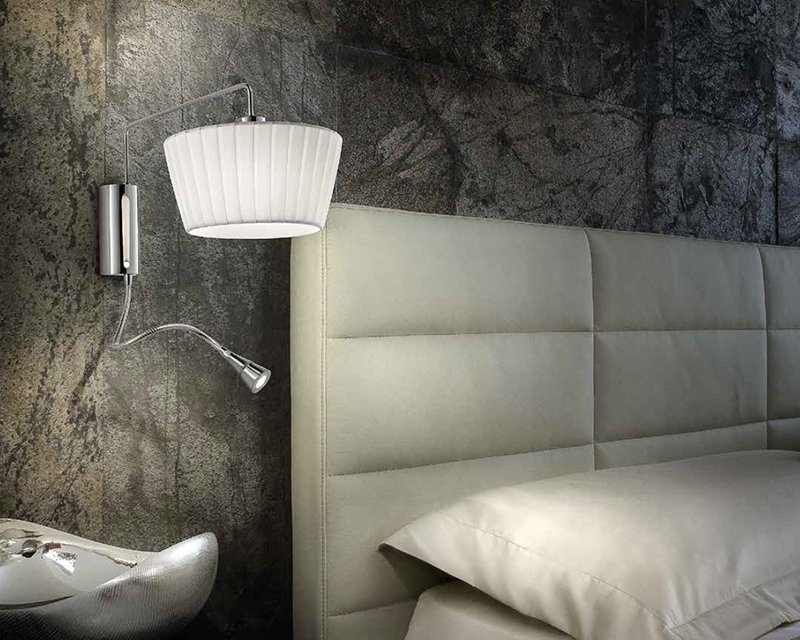Plafoniera Tessuto Grande : Cannes ap sil lux applique classica in tessuto lightinspiration
