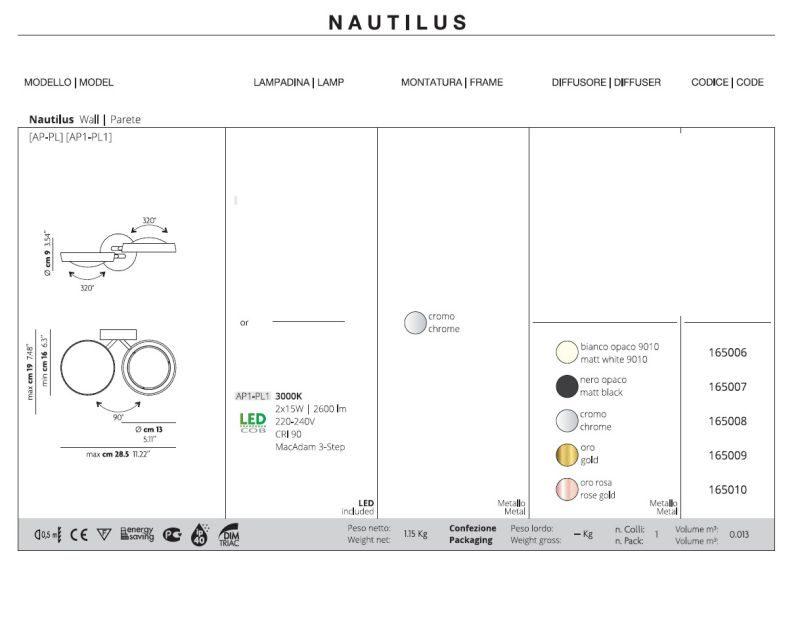 Nautilus-studio- italia-design-lampada-da-parete