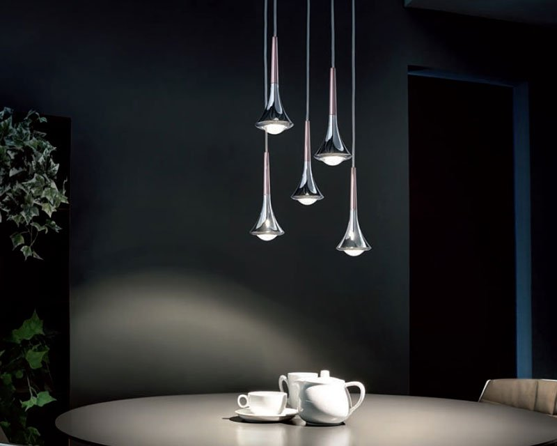 RAIN 5 Luci Studio Italia Design Sospensione LED Dimmerabile