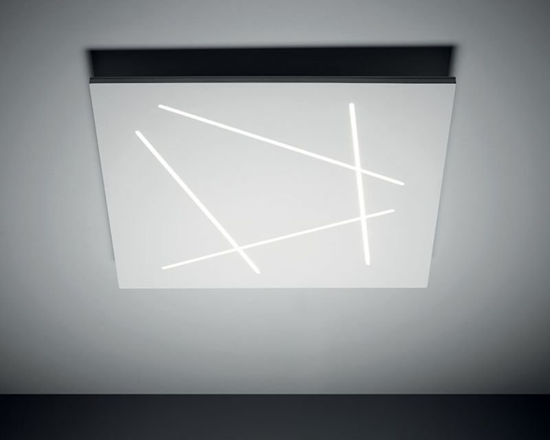 Plafoniera A Led Quadrata : Flat vivida international plafoniera led lightinspiration