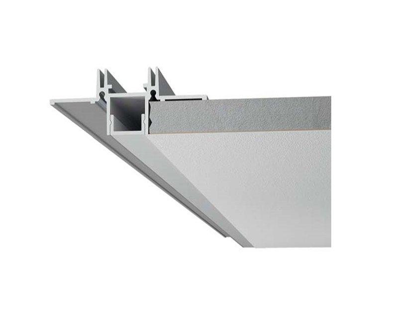 P002 9010 profilo per strisce led da incasso for Profili alluminio leroy merlin