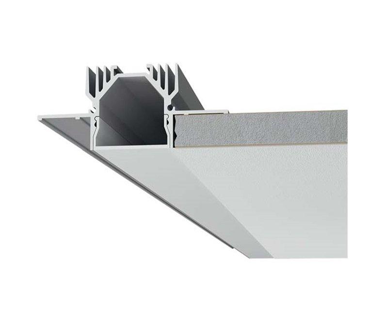P003 9010 profilo per strisce led 9010 incasso for Profili alluminio leroy merlin