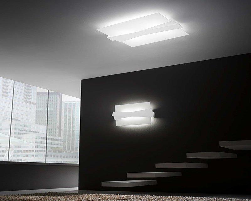 zig-zag-linea light-plafoniera-applique-bianca