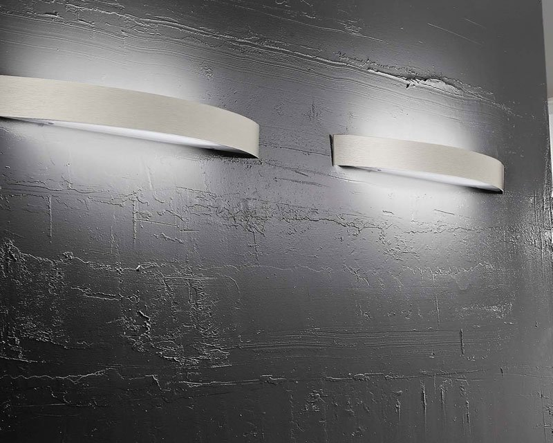 Curve linea light applique alogena nichel lightinspiration
