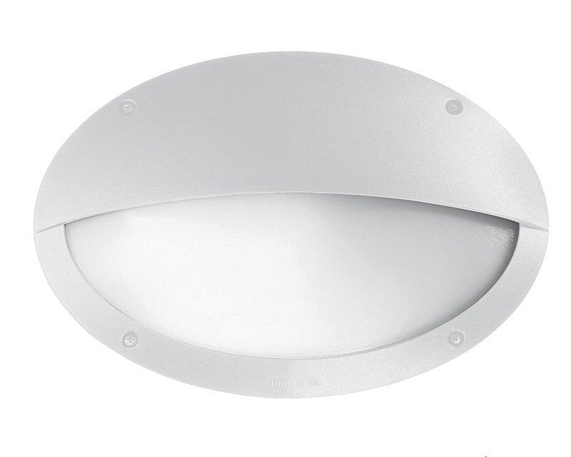 Plafoniere Da Esterno Con Palpebras : Plafoniera ovale bianca con palpebra in alluminio lampadina e