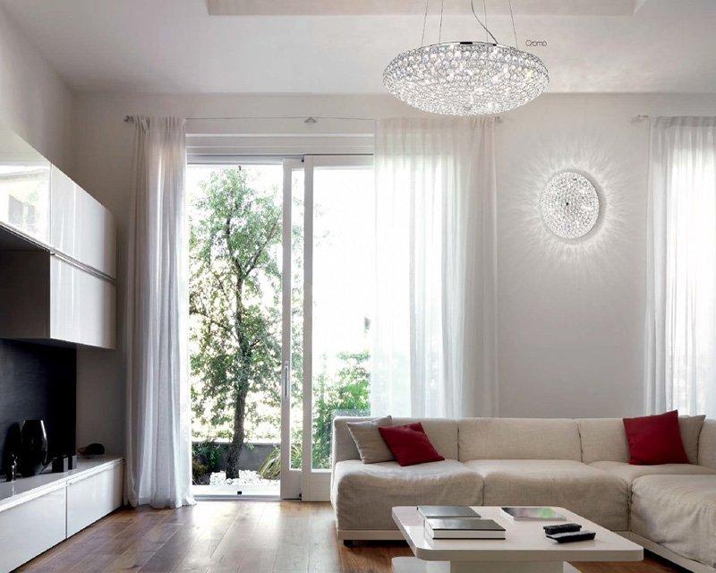 Plafoniere Per Soggiorno Classico : King sp ideal lux lampadario classico in cristallo