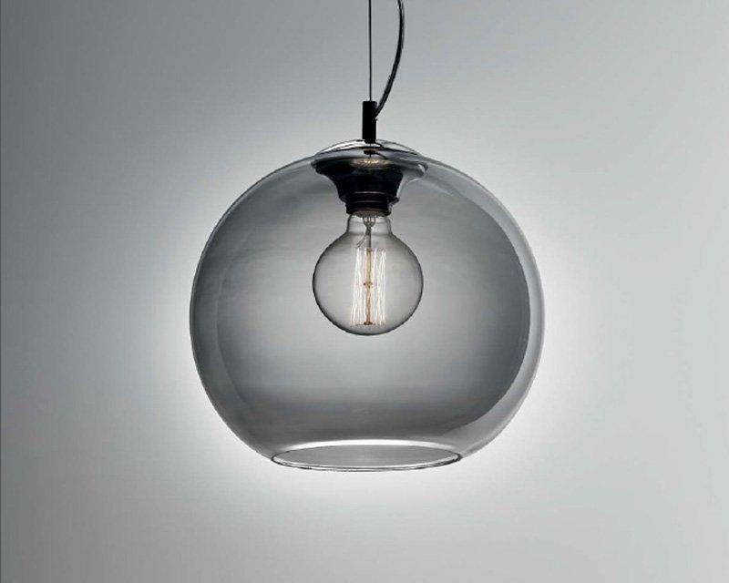 Lampadari A Palla Moderni.Nemo Fume Ideal Lux Lampadario Moderno A Sfera In Vetro