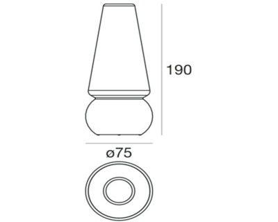 marge-linealight-lampada-da-terra-per-esterni-tecnica
