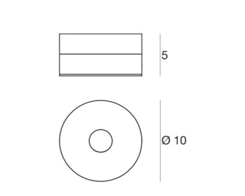 one-to-one-linealight-miniplafone-tondo-led-tecnica