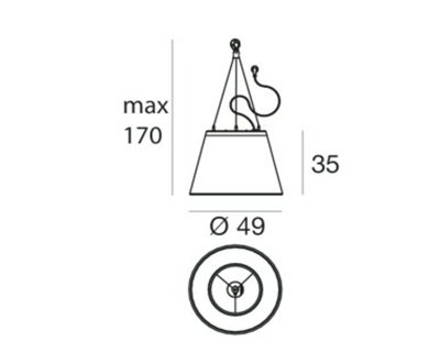 Vulcano Linea Light Lampadario Moderno Led small